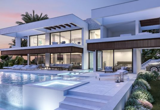 contemporary villa for sale in nueva andalucia