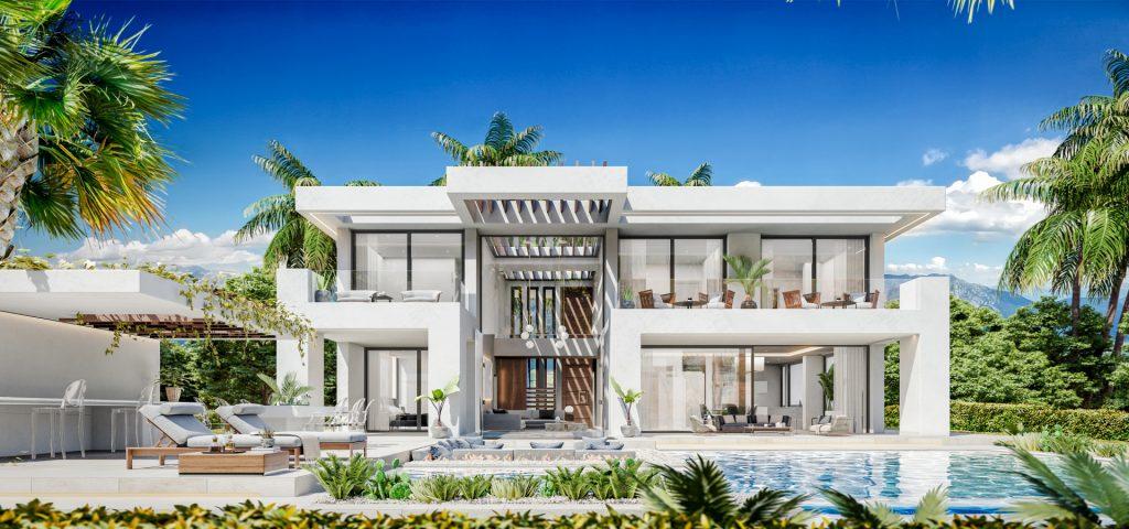 3d rendering villa estepona